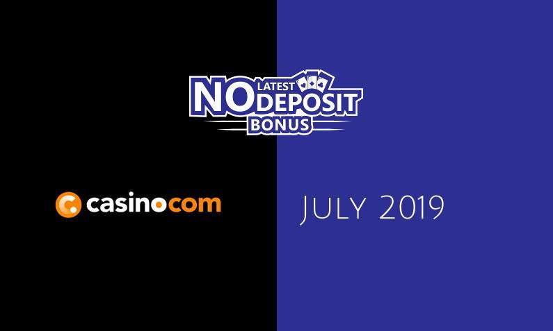 Latest Casino com no deposit bonus- 7th of July 2019