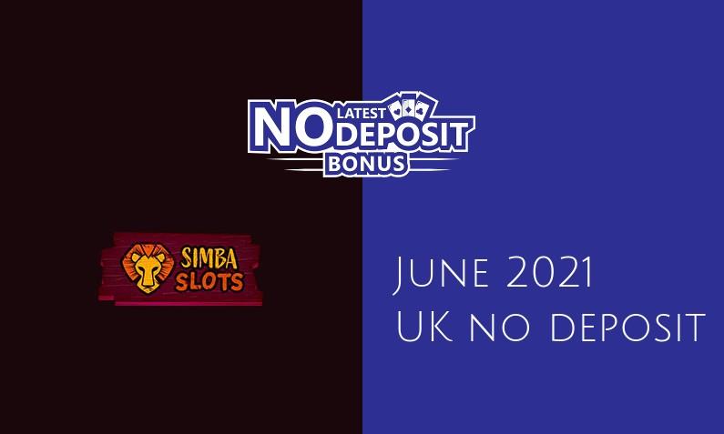 Latest Simba Slots no deposit UK bonus- 11th of June 2021