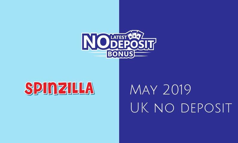 Latest UK no deposit bonus from Spinzilla Casino- 18th of May 2019