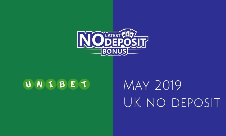 Latest UK no deposit bonus from Unibet Casino, today 13th of May 2019
