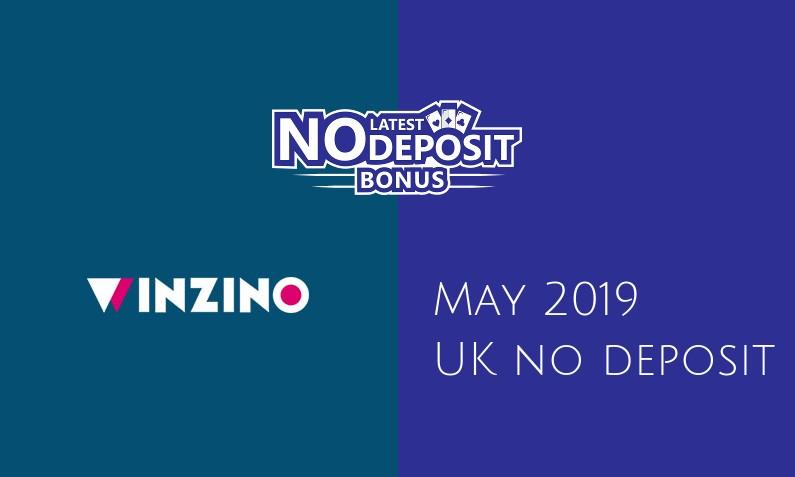 Latest Winzino Casino no deposit UK bonus, today 15th of May 2019