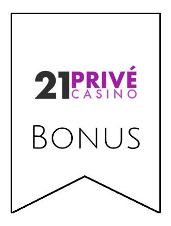 Latest bonus spins from 21 Prive Casino