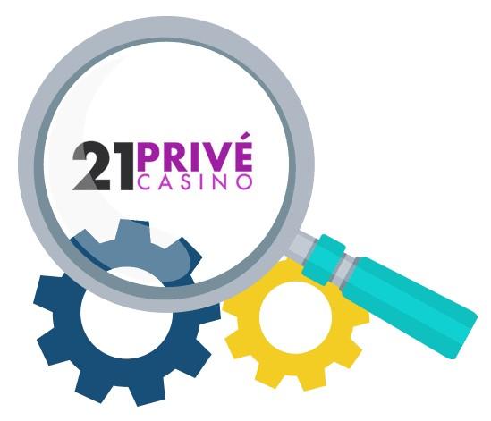21 Prive Casino - Software