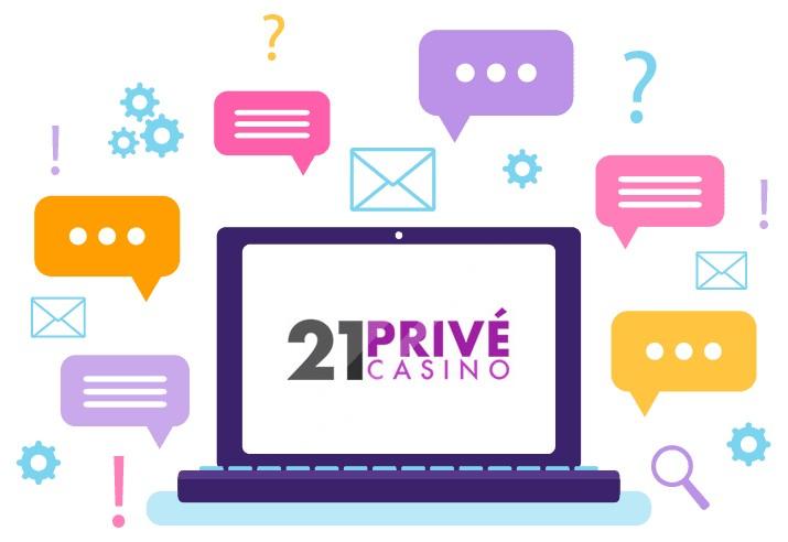 21 Prive Casino - Support