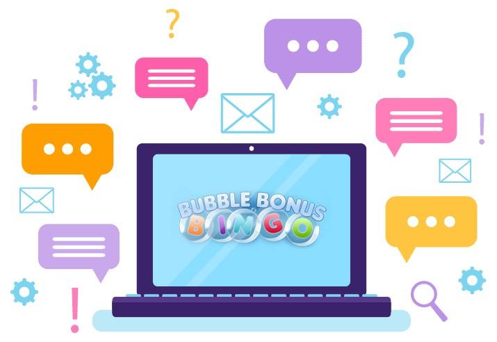 Bubble Bonus Bingo Casino - Support