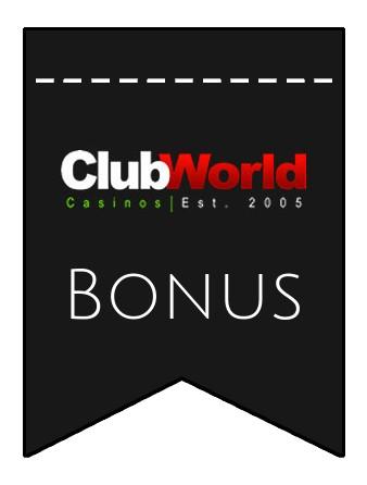 Latest bonus spins from Club World Casino