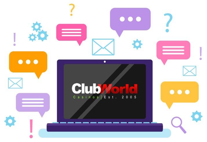 Club World Casino - Support