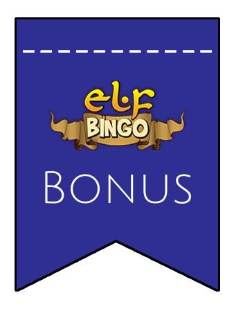 Latest bonus spins from Elf Bingo