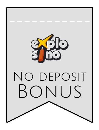 Explosino - no deposit bonus CR