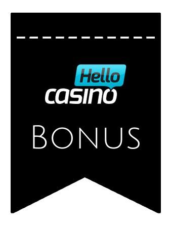 Latest bonus spins from Hello Casino
