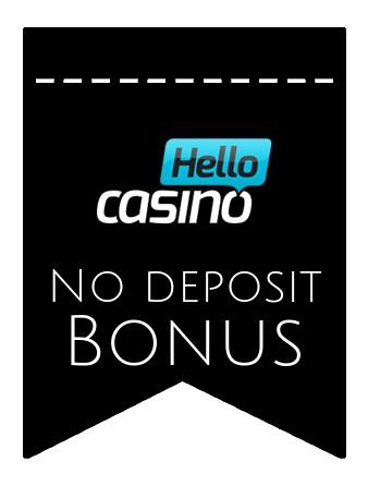 Hello Casino - no deposit bonus CR