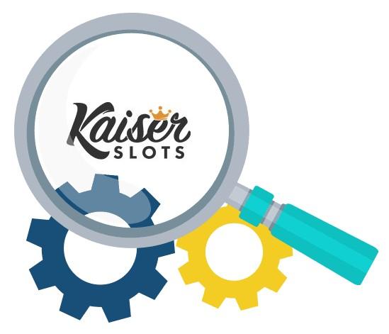 Kaiser Slots Casino - Software