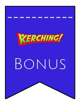 Latest bonus spins from Kerching Casino