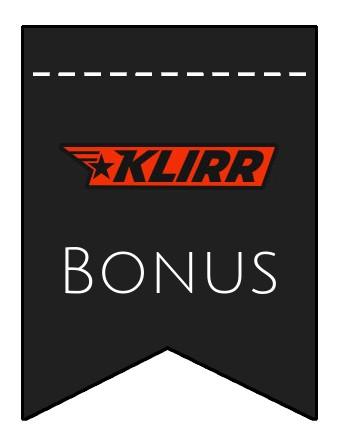 Latest bonus spins from Klirr