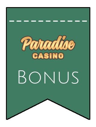 Latest bonus spins from Paradise Casino