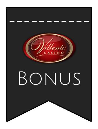Latest bonus spins from Villento Casino