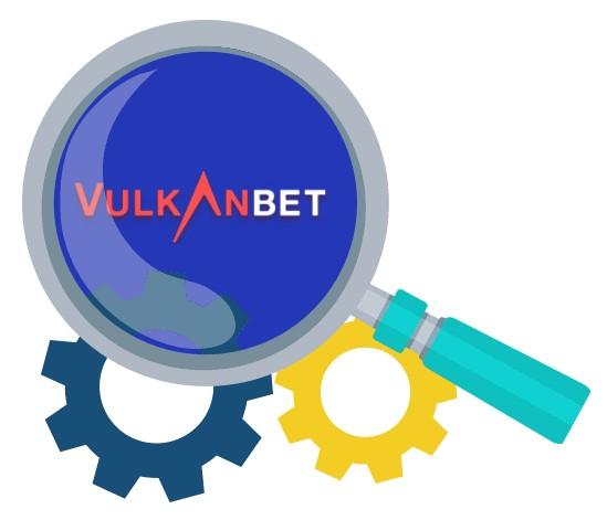 VulkanBet Casino - Software