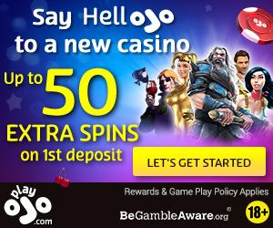 Featured bonus from Play Ojo Casino