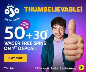 Latest no deposit bonus from Play Ojo Casino